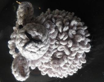 Grey Merino sheep Ghent, hand crocheted