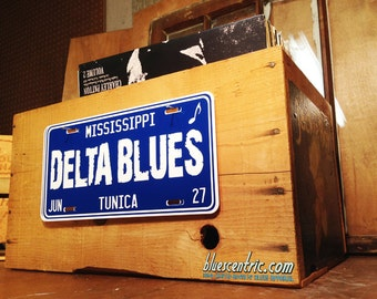Delta Blues License Plate