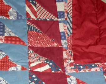 Beautiful Patriotic Patchwork Quilt