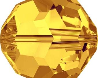 Swarovski Crystal Round Beads 5000 - 3mm 4mm 6mm 8mm 10mm- Sunflower