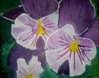 Pansies: Original Acrylic Painting on Canvas