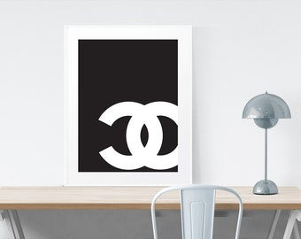Chanel Typoghraphy Print Wall Art Printable Art Digital Download scalable to 50x70 cm