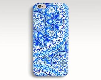 iPhone 7 Plus Case, Blue iPhone 5s Case, Art iPhone 7 Case, Floral iPhone 6s Case, Vintage iPhone 5s Case Cute iPhone 7 Case, iPhone 6s Plus