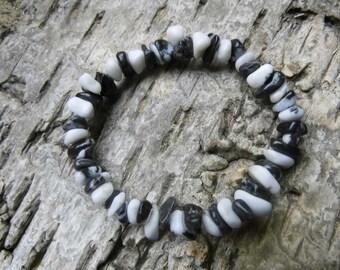 """""""Zebra"""" Zebra marble, Chakra, Reiki, Waldorf, gems, power bracelet, bracelet"""