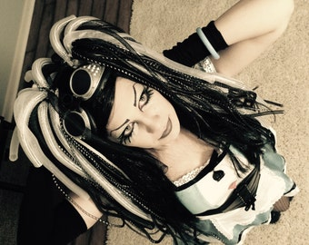 Cyberpunk cyber goth tubular crin dread falls cyberlox