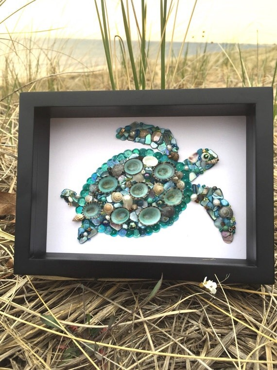 Sea Turtle Picture Sea Turtle Decor Beach Decor Shell
