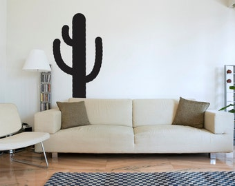 "Cactus Wall Decal (75"" x 33"") Wall Sticker Home Decor"