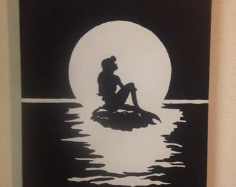 The Little Mermaid Silhouette Painting