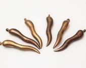 Vintage Raw Brass Copper Pendants,Unusual Jewelry Findings, Brass Components (FDS32)