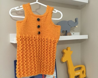 By KnottedwLove Designs , baby girl dress, handmade dress, knitted dress