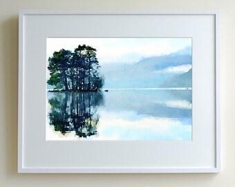 Loch tay at dawn, limited edition print of 150