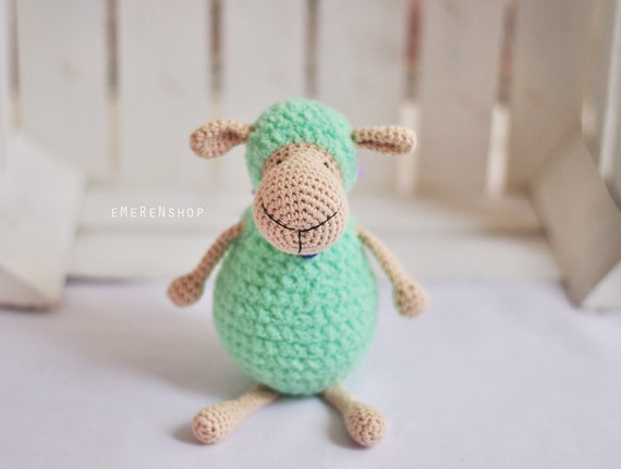 Limited color! Sheep Amigurumi, Crochet Sheep, Super Soft, Super cute, crochet softie, crochet animal, stuffed toy, Polly the Lamb