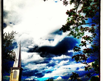 Church on a Cloudy Day