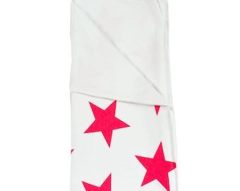 Baby Blanket. Star Red Love