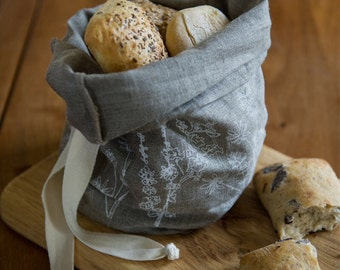 Linen Bread Bag, perfect storage for Bread, Rolls and Patisserie from The Garden Collection