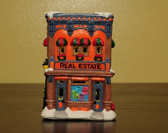 Hand painted Ceramic Real Estate Office