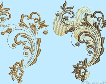 Ornate Ornament Embroidery Pattern 0002-0003 Set - digital designs for embroidery machine