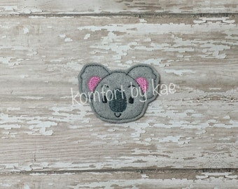 UN-CUT Koala Face Feltie (set of 4)
