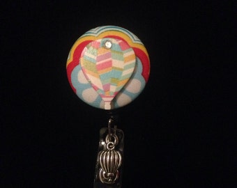 Hot Air Balloon -Nurse Retractable ID Badge Reel/ RN Badge Holder/Doctor Badge Reel/Nurse Badge Holder/Student Nurse badge reel/ nursing gif