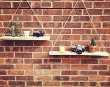Reclaimed pallet wood hanging shelves handmade/furniture/rustic