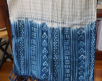 Handmade Indigo Scarf from Mali