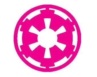 Star Wars Car Sticker, Imperial Badge, Galactic Empire Emblem Decal, Star Wars Logo Vinyl Decal, Sith Sticker For Car