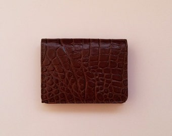 Wallet Cardcase Brown coconut skin