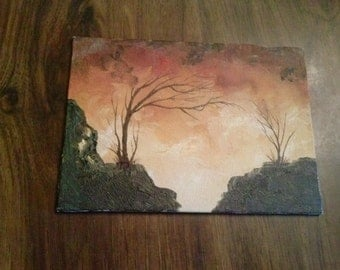 Sunset #1- Miniature Canvas Painting