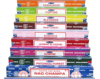 Satya Nag Champa Incense (Single Pack) - Various scents to choose from. ** BUY 4 GET 1 FREE **