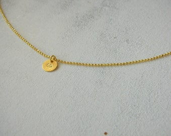 Vermeil - delicate charm chain INFINITY