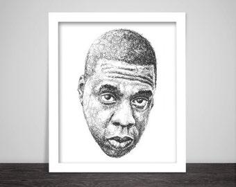 Scribbled Jay Z - Hip Hop poster