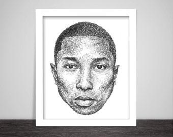 Scribbled Pharrell Williams - Hip Hop poster