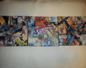 Set of 3 canvasses 20 x 20cm, 1.5 cm deep