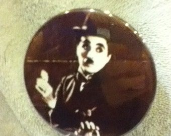 charley chaplin pin back button