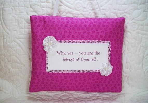 Door hanger pillow sayings pillow with heat set saying