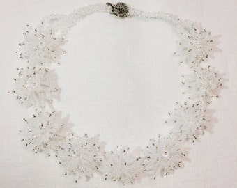 "Necklace ""Crystal flowers"""