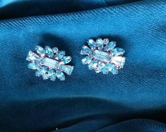 Pale aqua stone earrings