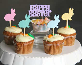 Easter bunny cupcake toppers - Set of 13