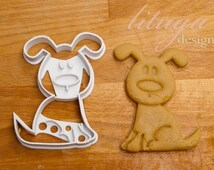 Dog cookie cutter - Animal shaped cookie cutter - dog, puppy, doggy
