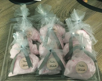 50 Cotton Candy Party Favors with Custom Label
