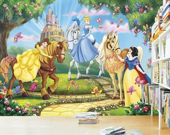 Princess Wall mural, Wallpaper, Wall décor, Wall decal, Nursery and room décor, Wall art
