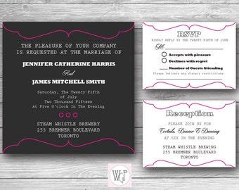 Madelyn Wedding Invitation Set - Digital Download