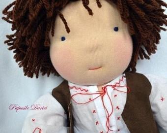 Radu -Waldorf boy doll with rustic outfit