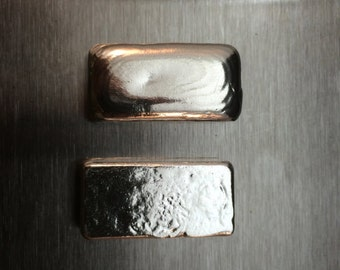 One Troy Ounce Hand Poured Silver Bar Silver Bullion No Scrap .999 Silver Investment Grade