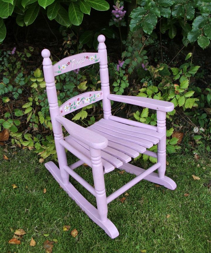 Hand Painted Childrens Rocking Chair by HarbourFarmFurniture