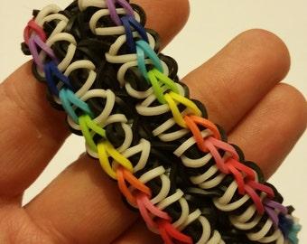 Rainbow Symphony Rubber Band Bracelet