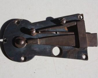 Vintage Wrought Iron Keyhole Latch