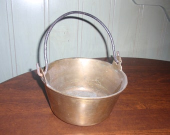 Antique Brass Bucket or Kettle