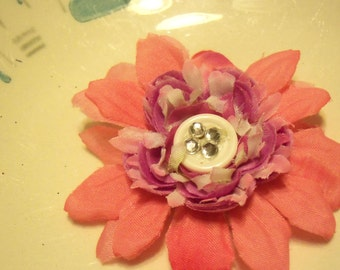 "2 1/2"" pink and purple flower"