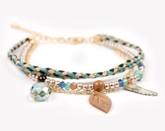 Bracelet Indiana blue turquoise cute elegant